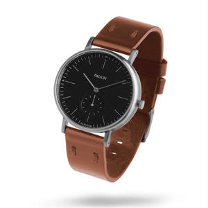 PAULIN:ポーリン《TO100B-BR-B ブラック/ブラウン》腕時計 英国製ウォッチ