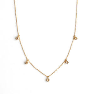 sowi:ソーイ 《ローズカットダイヤモンド5石 ネックレス K18YG ネックレス》ダイヤモンド/ネックレス