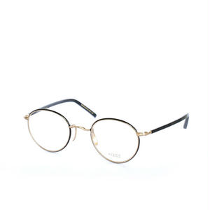 ayame:アヤメ 《SIPPOU -シッポウ Col.BLK》眼鏡 メタルボストン / ブラック / ゴールド