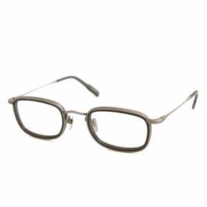 OG × OLIVER GOLDSMITH:オージーバイオリバーゴールドスミス《Lumiere-2 -ルミエール col.003 Antique Silver MatBlack》 眼鏡 ウエリントン