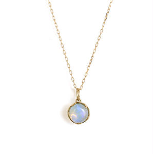sowi:ソーイ 《 天然石オパール・ブルートパーズ K10YG  ネックレス》 ネックレス