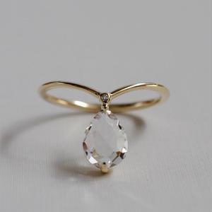 sowi:ソーイ 《K10YG  クォーツ/ダイヤモンド リング》309R0140