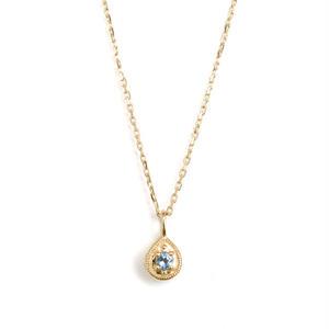 sowi:ソーイ 《12の宝石のしずくたち  3月アクアマリン K18YG  リバーシブルネックレス》サファイア・ダイヤモンド/ネックレス