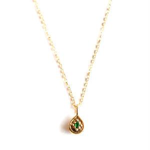 sowi:ソーイ 《12の宝石のしずくたち  5月エメラルド K18YG  リバーシブルネックレス》エメラルド・ダイヤモンド/ネックレス