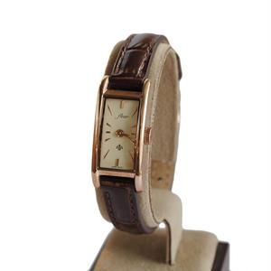 fleur:フル―ル 《F005 - PINK GOLD/Brown》腕時計 レザーベルト