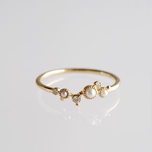 sowi:ソーイ 《 K18YG パール・ダイヤモンドリング》302R0129