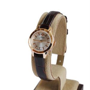 fleur:フル―ル 《F001 - PINK GOLD/WINE》腕時計 レザーベルト
