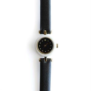 induna:インデュナ 《ECAILLE WHITE×BLACK》時計 リストウォッチ べっ甲柄