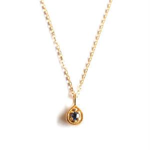 sowi:ソーイ 《12の宝石のしずくたち  9月サファイア K18YG  リバーシブルネックレス》サファイア・ダイヤモンド/ネックレス