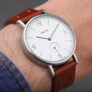 PAULIN:ポーリン《TN100A-BR-B ホワイト/ブラウン》腕時計 英国製ウォッチ