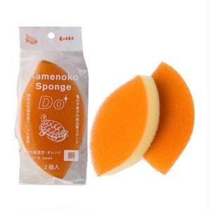 亀の子スポンジ Do 木の葉薄型 2個入 orange