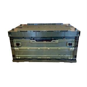 折畳みコンテナ 70L OD (蓋・横扉付き スタッキング可能)