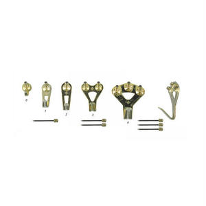 "Floreat Wall Hooks ""Brass"""
