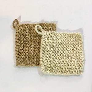麻の手編みエコスポンジ