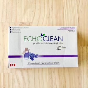 ECHO CLEAN  乾燥機用柔軟剤シート 40枚