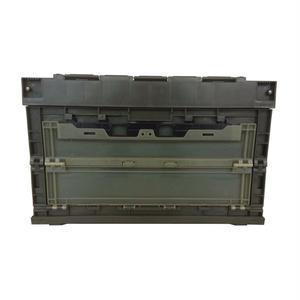折畳みコンテナ 50L OD (蓋・横扉付き スタッキング可能)