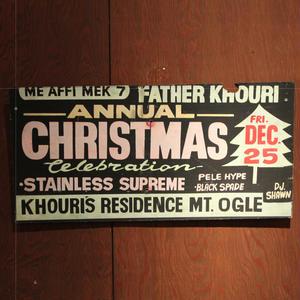 ジャマイカイベントサイン(イベント告知ボード)ANNUAL CHRISTMAS