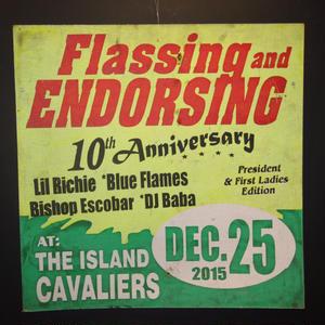 ジャマイカイベントサイン(イベント告知ボード)FLASSING ENDORSING[LIL RICHIE]