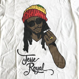 ジャマイカ直輸入 JESSE ROYAL  T-SHIRTS(WHITE)