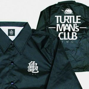 TURTLE MAN's CLUB  COACH JACKET(コーチジャケット)   【BLACK/WHITE】