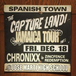 1つ限定再入荷!ジャマイカイベントサイン(イベント告知ボード)CHRONIXX CAPTURE LAND@SPANISH TOWN