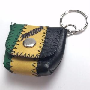 ジャマイカ直輸入!ジャマイカカラー 小物(小銭)入れ用 レザー キーホルダー