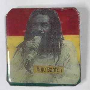 ジャマイカ直輸入  BUJU BANTON ハンドメイドバッチ