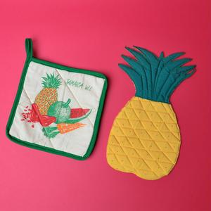ジャマイカ パイナップル型鍋敷き セット