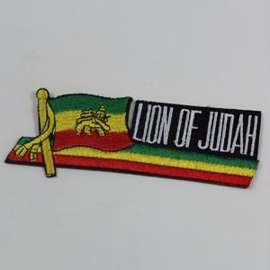 ジャマイカ直輸入 ワッペン LION FLAG アイロン圧着可能