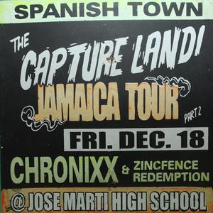ジャマイカイベントサイン(イベント告知ボード)CHRONIXX CAPTURE LAND@SPANISH TOWN
