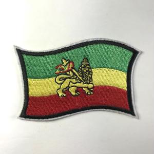 ジャマイカ直輸入 ワッペン ラスタフラッグ アイロン圧着可能