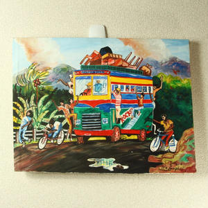一点物!ジャマイカ ペイント ERIC CAMBELL 有名レゲエバス(ジャマイカ絵画)