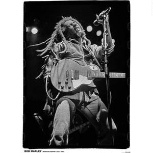 レアポスター直輸入!BOB MARLEYポスター 「BLACK&WHITE LIVE」