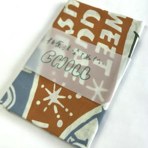 注染てぬぐいCHILL『レコードてぬぐい 茶金×ブルーグレー×草色 designed by OKINO FLYER』MADE IN JAPAN
