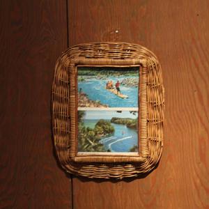 ジャマイカ ビンテージ ラタン壁掛け
