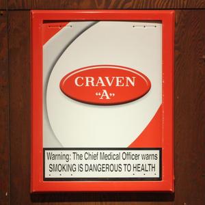 ジャマイカ産タバコ「CRAVEN A」の当時非売品サインボード