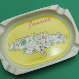 ジャマイカが描かれた可愛い灰皿