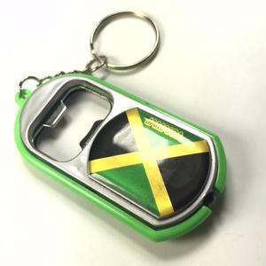 ジャマイカ直輸入 ライト付き 栓抜きキーホルダー JAMAICA