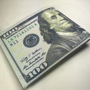 再入荷!ジャマイカ直輸入!アメリカUS100ドルがプリントされた財布