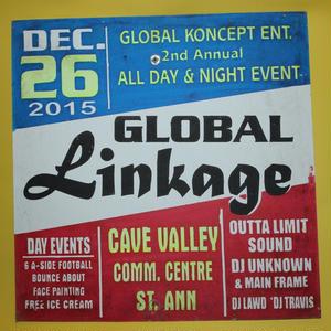 ジャマイカイベントサイン(イベント告知ボード)GLOBAL LINKAGE
