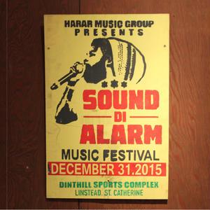 ジャマイカイベントサイン(イベント告知ボード)SOUND DI ALARM