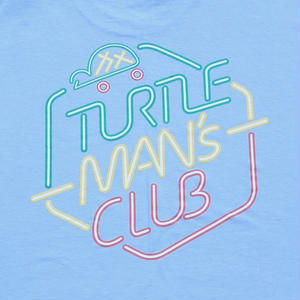 TURTLE MAN's CLUB T-SHIRTS [AQUA BLUE]