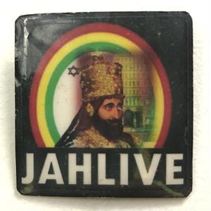 ジャマイカ直輸入  セラシアイ  JAH LIVE ハンドメイドバッチ