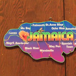 ジャマイカ島型 鍵掛け 壁掛け