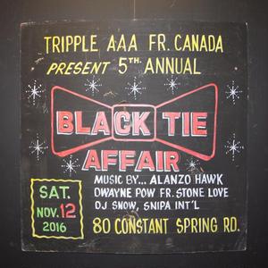 ジャマイカイベントサイン(イベント告知ボード)レア!手書き!BLACK TIE AFFAIR!