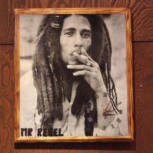 ボブマーリー(BOB MARLEY )MR REBEL 壁掛け時計