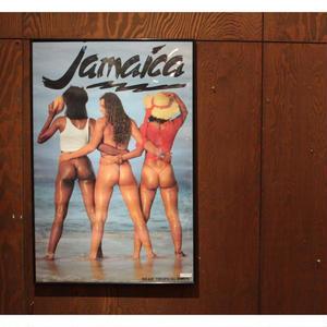 激レア 超美品 JAMAICA セクシー ポスター(額縁込み)