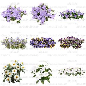 花の切り抜き素材 9個セット F_010