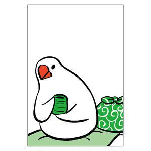 ポストカード(ふろしき文鳥C)