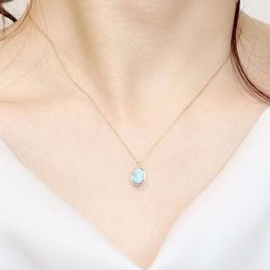 DotストーンNecklace(ラリマー)